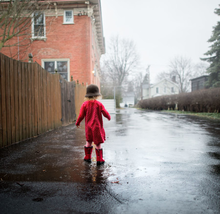 Little Red Boots and a Rainy Day